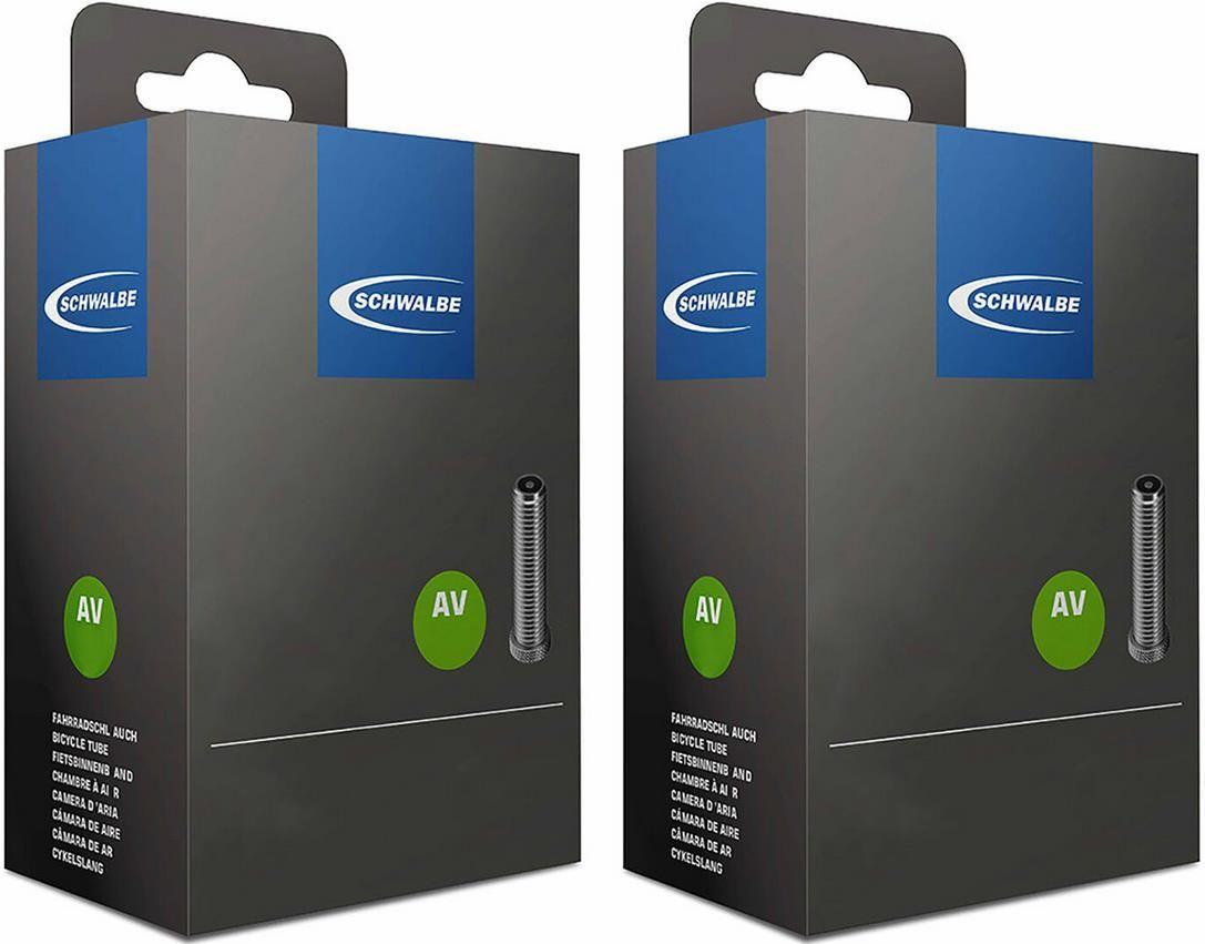 2 x Schwalbe Fahrradschlauch AV mit Autoventil in verschiedenen Größen für 9,84€ (statt 24€)