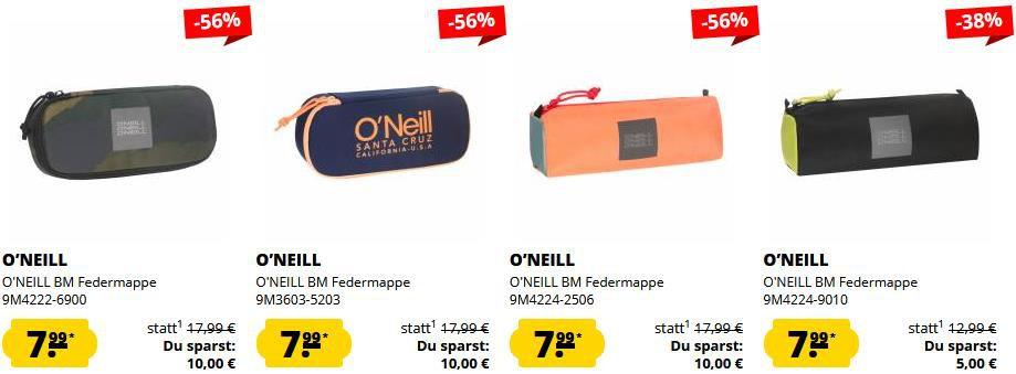 ONeill Federmappen Sale bei SportSpar   z.B. in Tarnmuster für 11,94€