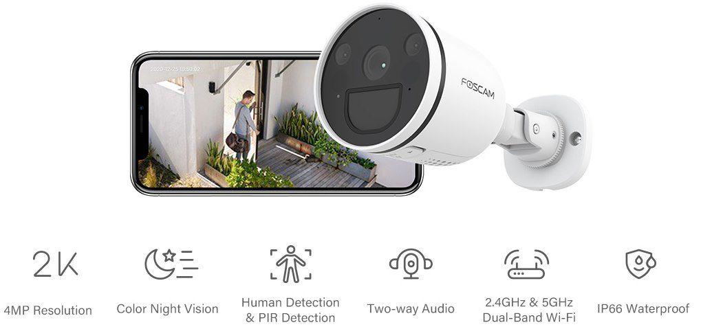 Foscam S41 2K/4MP Überwachungskamera für Außen mit Bewegungserkennung für 55,99€ (statt 90€)
