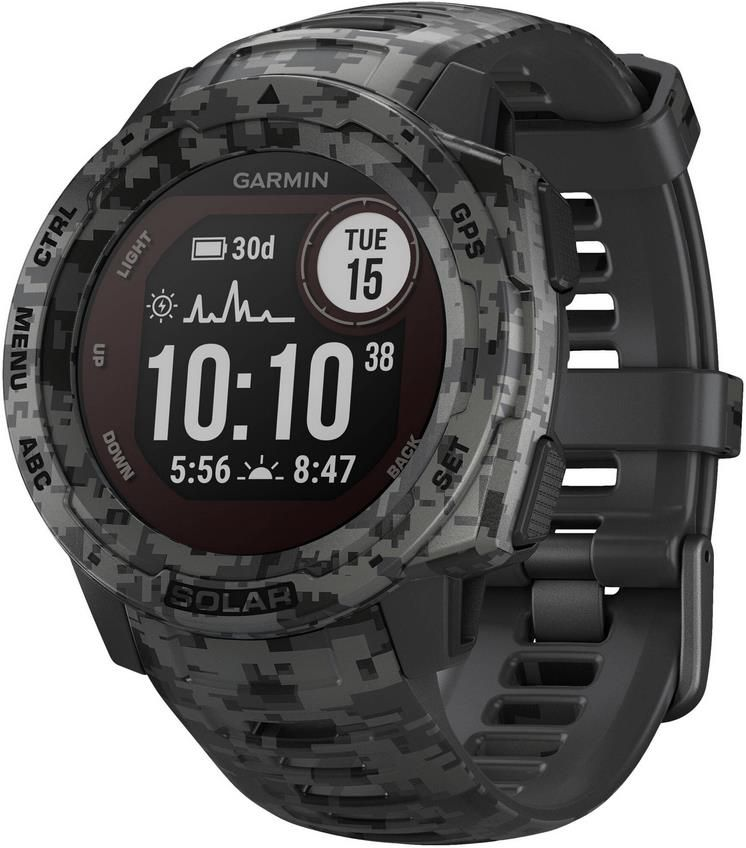 Garmin Multisport GPS Uhr Instinct Solar Camo für 256,71€ (statt 283€)