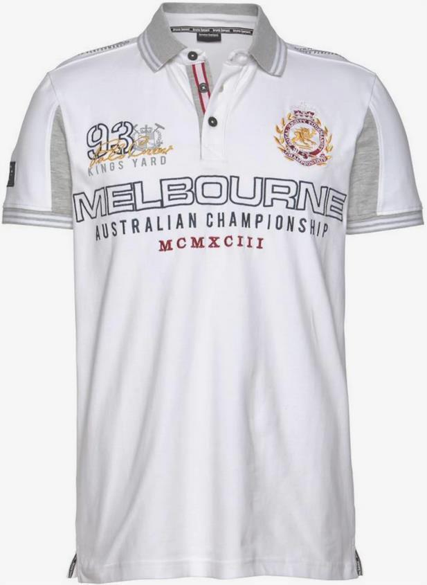 Bruno Banani   Herren Poloshirt in Weiß/Grau ab 22,09€ (statt 29€)
