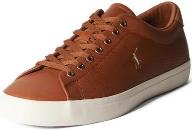 Polo Ralph Lauren Herren Sneaker Longwood aus Leder in der Farbe Cognac für 67,99€ (statt 80€)