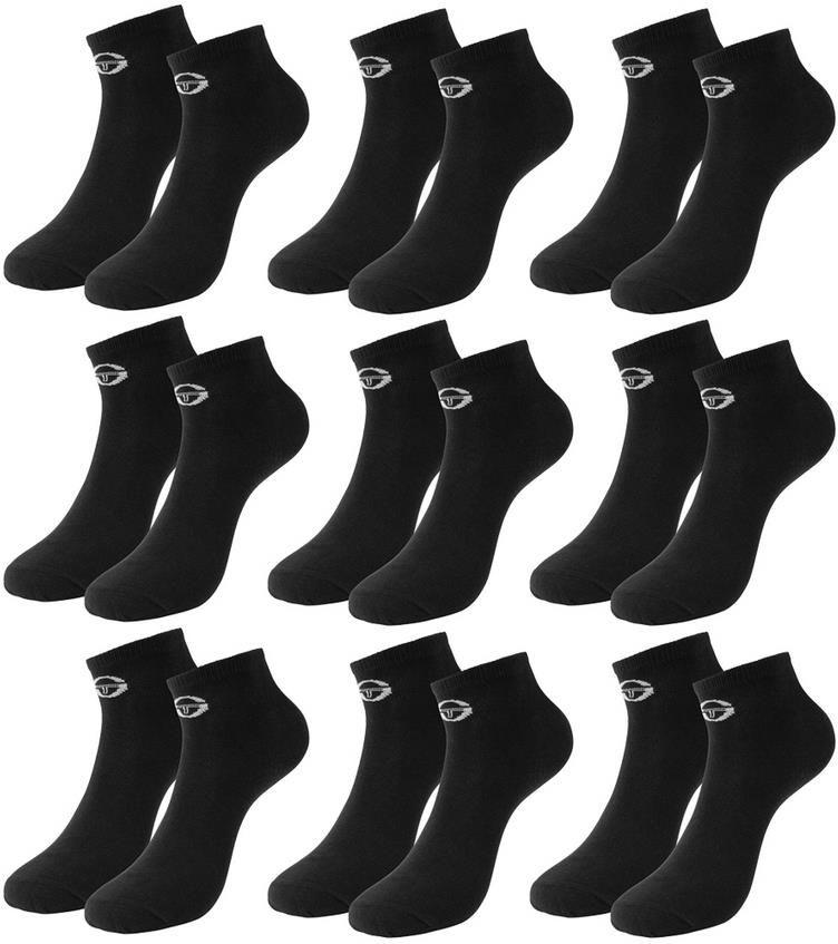 9 Paar Sergio Tacchini Herren Sneakersocken in weiß oder schwarz für 13,94€ (statt 36€)