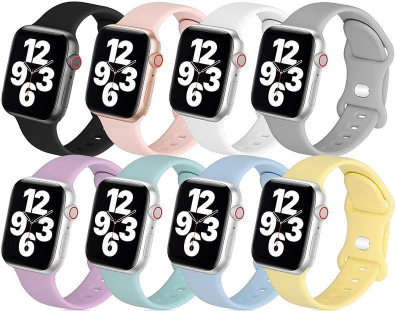 8er Pack: LovRug Silikon Armbander für Apple Watch 38/40/42/44mm ab 8,39€ (statt 21€)   Prime