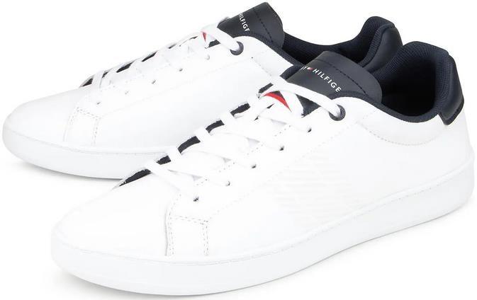 Tommy Hilfiger   Retro Tennis Cupsole Herrensneaker in weiß für 76,42€ (statt 93€)