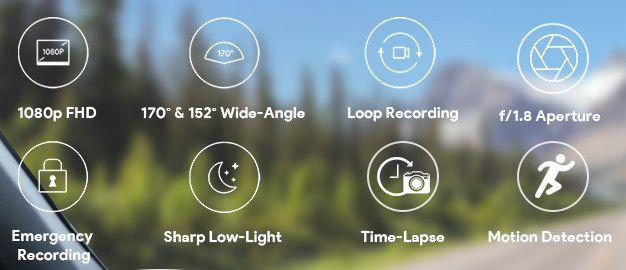 Aglia DR02 D   1080p Dual Dashcam mit 170° Weitwinkel für 59,99€ (statt 70€)