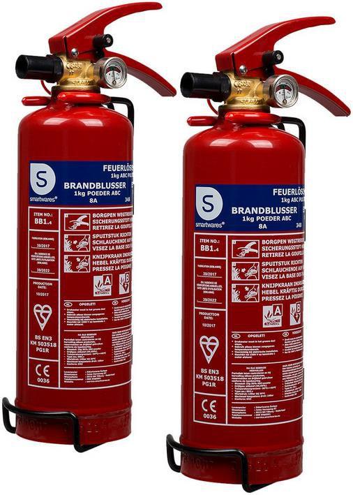 2x Smartwares BB1 Pulver Feuerlöscher (1Kg) für 27,90€ (statt 44€)