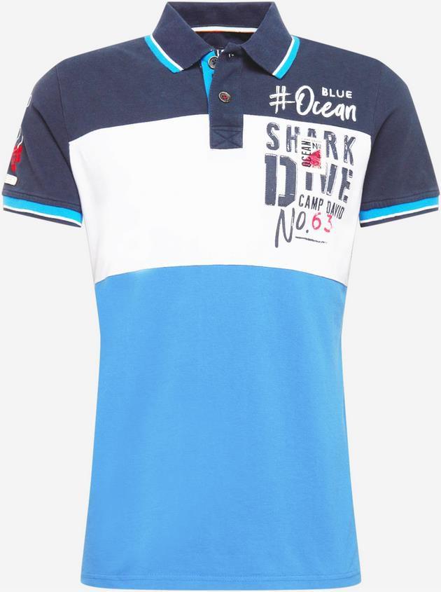 Camp David Poloshirt in navy / hellblau für 32,94€ (statt 52€)