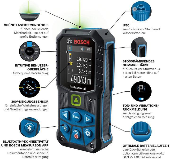 Bosch GLM 50 27 CG Professional Laser Entfernungsmesser für 134,99€ (statt 166€)