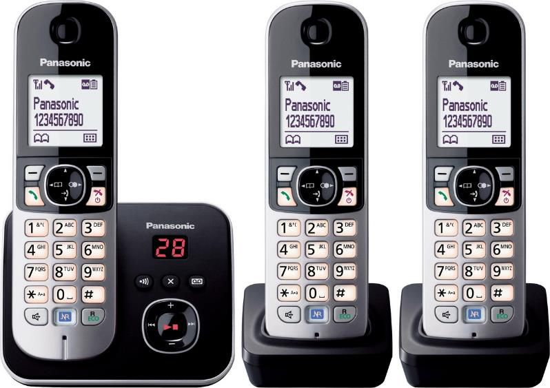 Panasonic TG6823G Trio   3 Mobilteile und Anrufbeantworter für 63,44€ (statt 73€)
