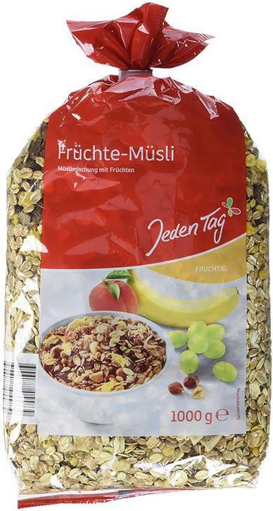5x Jeden Tag   Früchte Müsli in der 1kg Packung für 6,36€ (statt 8€)