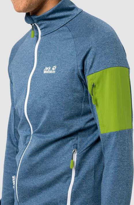 Jack Wolfskin Milford Jacket M in Blau/Grün für 62,90€ (statt 75€)