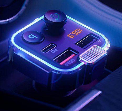AINOPE AV849 Bluetooth 5.0 FM Transmitter mit 2x USB & 1 USB C  (42W PD + QC3.0) für 10,34€ (statt 22€)   Prime