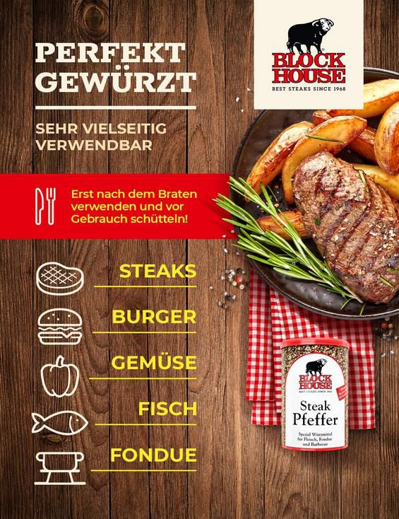 5x Block House Steak Pfeffer 200g Dose für 27,96€ (statt 35€)