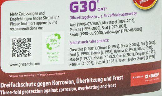 3x 1L Glysantin G30 Kühlerfrostschutzkonzentrat rotviolett für 17,99€ (statt 24€)
