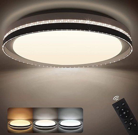 NIXIUKOL 42W Deckenlampe mit 40cm Durchmesser inkl. Fernbedienung für 35,99€ (statt 50€)