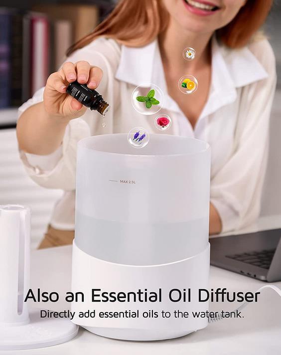 Ultraschall Luftbefeuchter mit 7 Farben LED für 12€ (statt 40€)