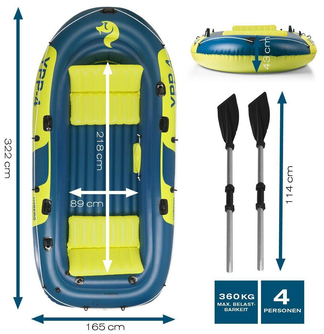 Hoberg Schlauchboot YPP 4 inkl. 2 Sitzbänken, 2 Paddel & Pumpe für 129,90€ (statt 170€)