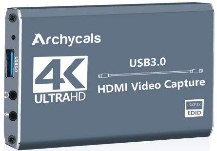 Archycals Capture Card 4K HDMI zu USB 3.0 für 21,99€ (statt 44€)