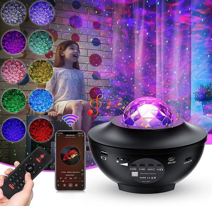 Mirapretty   LED Sternenhimmel Projektor mit Bluetooth und Fernbedienung für 18,99€ (statt 38€)