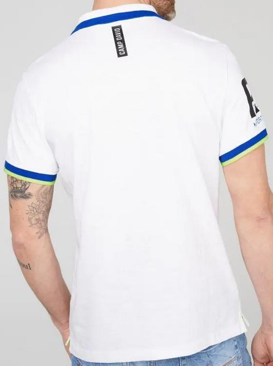 Camp David Poloshirt aus Flammgarn mit Foliendruck für 37,93€ (statt 70€)