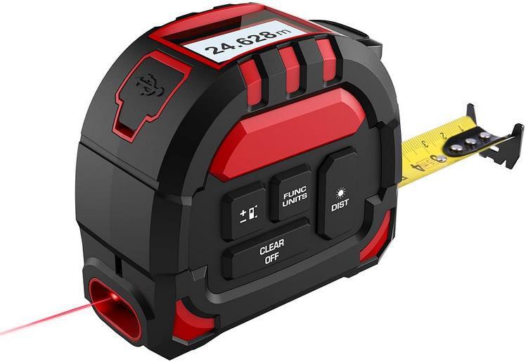 Merterks 2 in 1 Laser Entfernungsmesser   40M Laser Entfernungsmesser & 5M Maßband für 19,99€ (statt 40€)