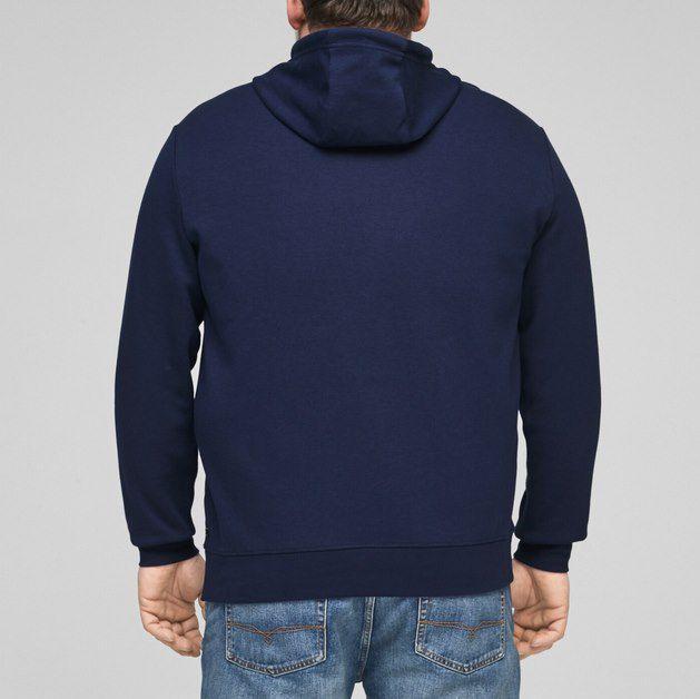 s.Oliver Big Sizes Hoodie mit Reißverschluss für 19,16€ (statt 48€)   2XL bis 5XL