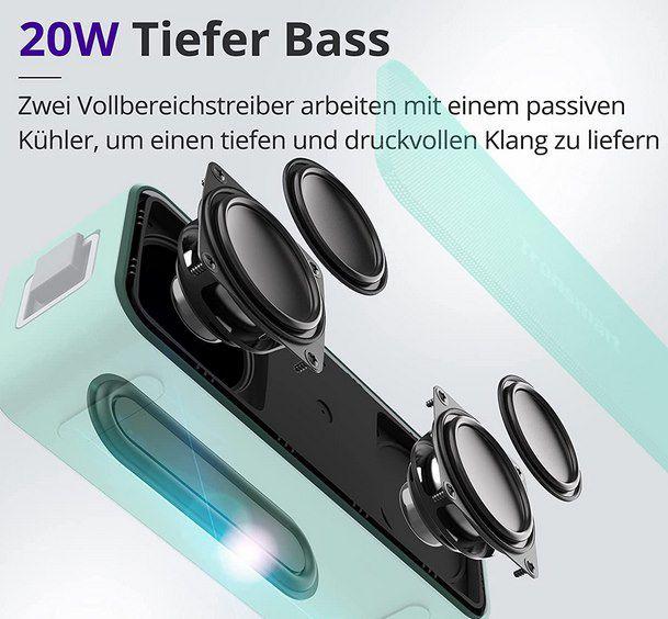 Tronsmart T2 Plus 20W Bluetooth 5.0 Lautsprecher für 18,49€ (statt 37€)
