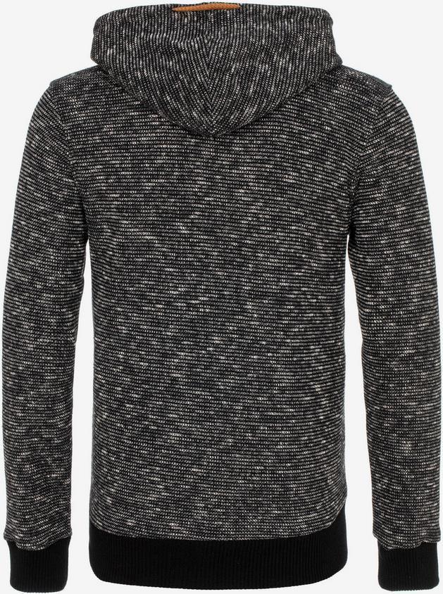 CIPO & BAXX Herren Sweatjacke in schwarzmeliert für 44,99€ (statt 60€)