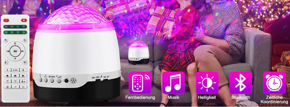 Ansody LED Sternenhimmel Projektor mit BT Lautsprecher für 13,99€ (statt 28€)   Prime
