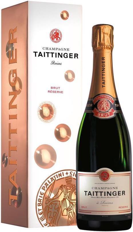 Taittinger   Brut Réserve Champagner (0,75L) in Geschenkverpackung für 33,90€ (statt 48€)