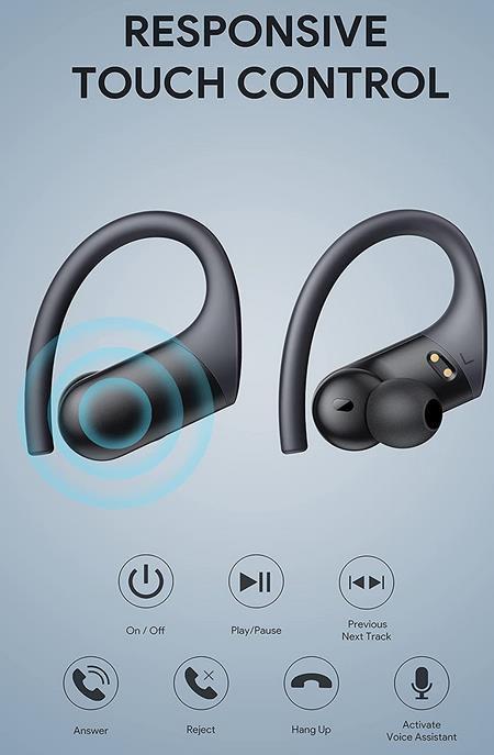 AFGS   Kabellose Bluetooth Kopfhörer mit Ohrbügel für 19,99€ (statt 40€)