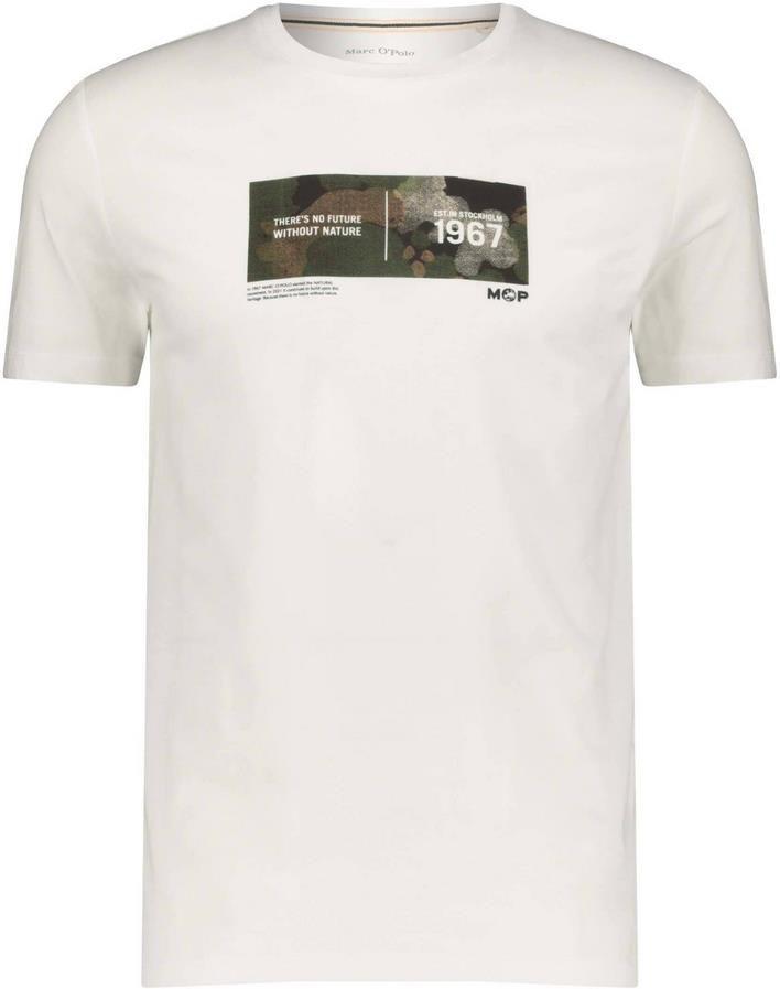 Marc OPolo   Herren T Shirt in Weiß mit Brustprint für 21,26€ (statt 28€)
