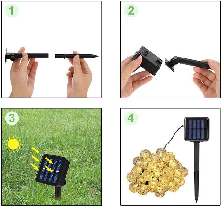 30 LEDs Solar Lichterkette im Glühbirnen Look für 8,99€ (statt 16€)