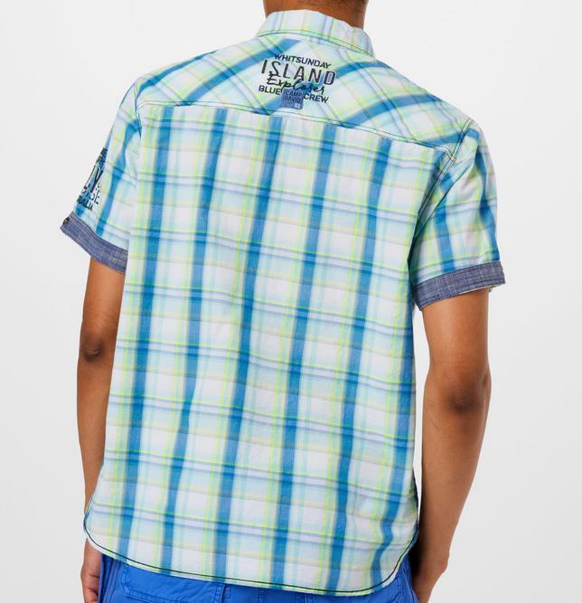 Camp David   gestreiftes blaues Hemd mit Brustprint für 23,96€ (statt 65€)