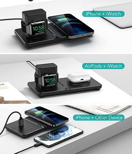 ESR HaloLock 2in1 magnetisches kabellose Ladestation für iPhone & Apple Watch für 15,99€ (statt 32€)