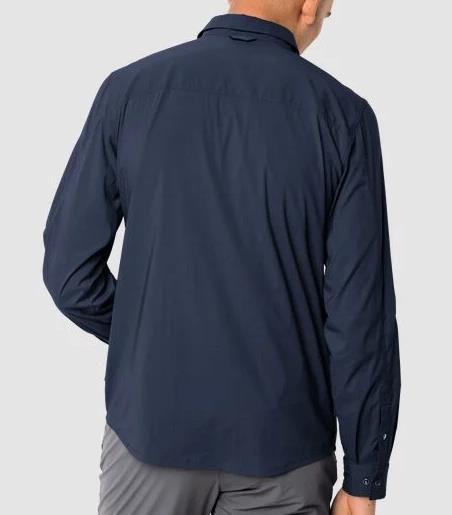 Jack Wolkskin   Kenovo LS Shirt M in Nachtblau für 42,90€ (statt 57€)