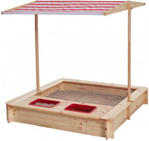 Sandkasten mit Wasser Matsch Bereich und Dach für 46,49€ (statt 70€)