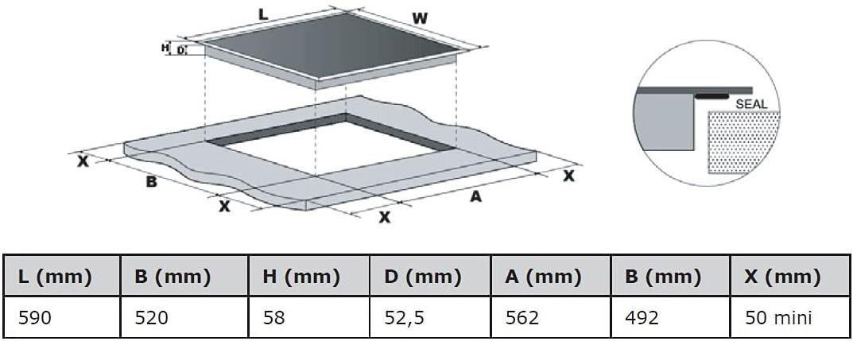 Respekta KM5500   rahmenloses, autarkes Glaskeramikkochfeld für 125,12€ (statt 160€)