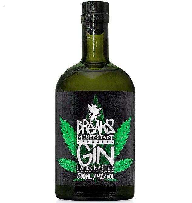 Breaks Cannabis Gin (0,5l) mit 42% & kräftiger Kräuternote für 24€ (statt 35€) – Prime
