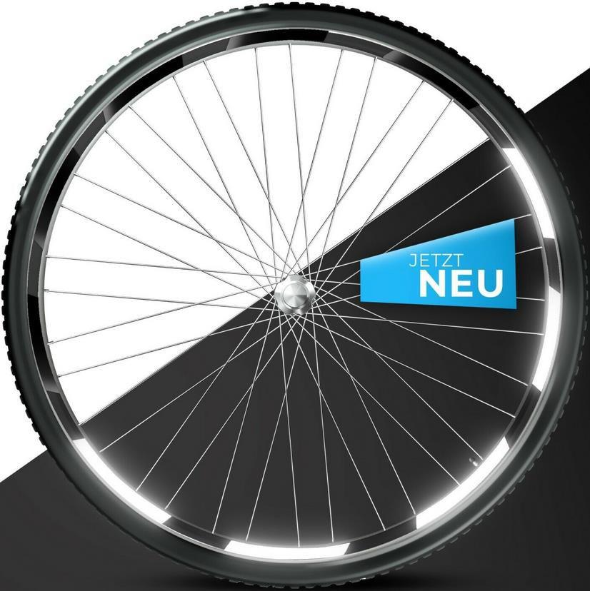 Blackshell Fahrradfelgen Reflektoren Aufkleber 42 tlg. für 6,49€ (statt 10€)
