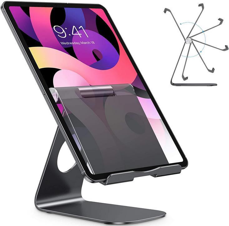 OMOTON verstellbarer Tablet Ständer aus Aluminium für Tablets bis 12,9 Zoll für 13,29€ (statt 19€)