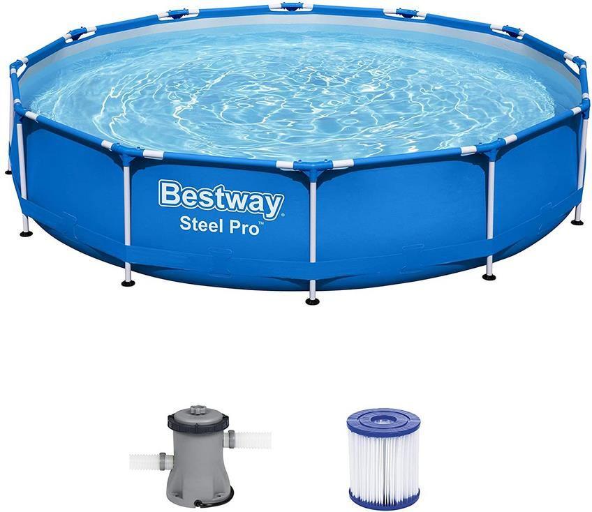 Bestway Steel Pro Frame Pool   366 x 76 cm   Set mit Filterpumpe für 69,90€ (statt 112€)