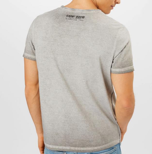 Camp David T Shirt in Grau für 11,96€ (statt 35€)