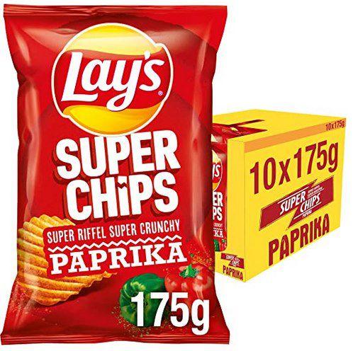 10x Lays Superchips Paprika (175g) ab 9,44€ (statt 16€)   Prime