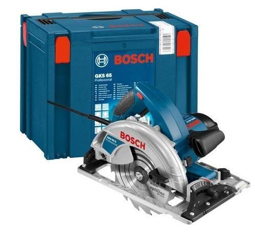 Bosch Professional Handkeissäge GKS 65 GCE inkl. Absaugadapter, Sägeblatt und Innensechskantschlüssel für 215€ (statt 273€)