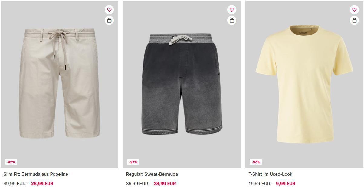 s.Oliver Sale bis  50% Rabatt + 30% Extra Rabatt ab 3 Sale Artikeln