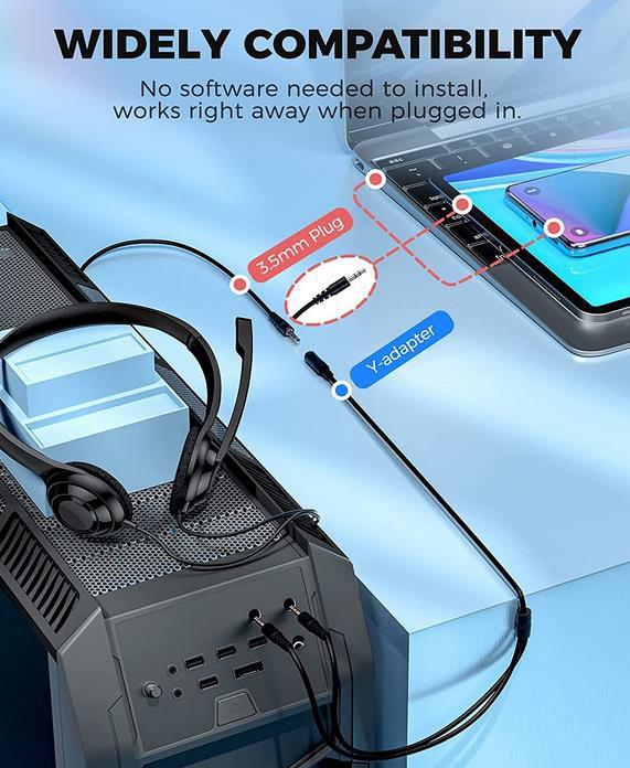 Lovchter Headset mit Mikrofon und Rauschunterdrückung für 7,99€ (statt 20€)
