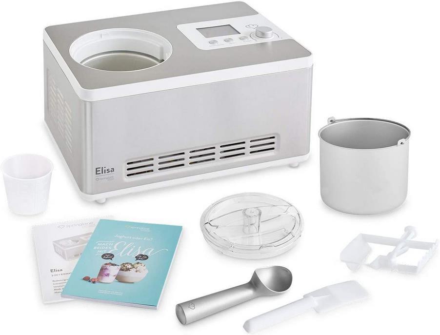 Springlane Elisa 2 in 1 Eismaschine und Joghurtbereiter für 239,20€ (statt 289€)
