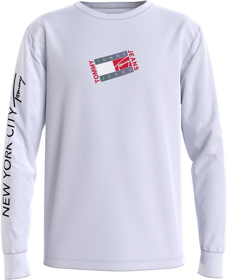 Tommy Jeans   Herren Shirt Langarm in Weiß für 26,91€ (statt 35€)